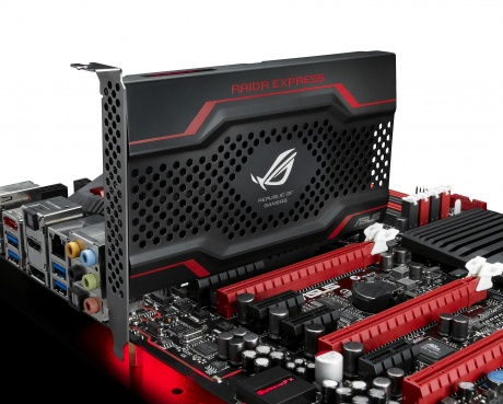 ASUS RAIDR Express PCI-E SSD Installed In A System
